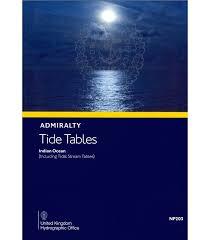 Np203 Admiralty Tide Tables Att Volume 3 Indian Ocean Including Tidal Stream Tables 2020 Edition