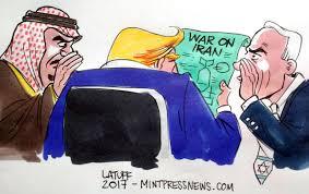 Afbeeldingsresultaat voor The new war against Iran and hezbollah cartoon