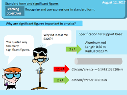 standard form physics standard form significant figure rounding by teamscienceuk