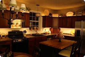 lighting above cabinets. Mood Lighting In The Kitchen From Thrifty Decor Chick Above Cabinets S