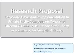 legal research proposal on corporate governance on directors trainin