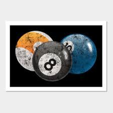 vintage pool billiard wall art on pool billiards wall art with pool billard wall art teepublic