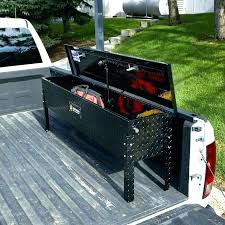 Black Side Tool Box Boxes Custom Pickup For Trucks Truck Low Profile ...