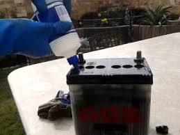 Battery Top Up With Distilled Water Youtube