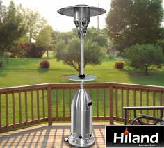 propane patio heater with table. Exellent Table Buy The Exclusive Hiland Premium Series Heaters Only At PatioShopperscom To Propane Patio Heater With Table E