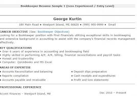 bookkeeper resume tips and samples bookkeeper resume sample 4 bookkeeper resume examples