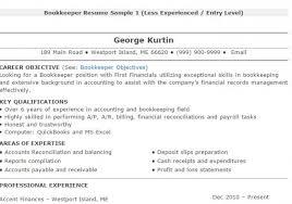 bookkeeper resume sample 4 sample resume for bookkeeper