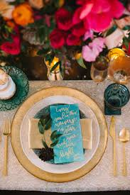 Blue And Gold Table Setting Invitations More Photos Blue Gold Table Setting Quote