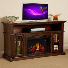 chimneyfree wallace infrared electric fireplace entertainment center in empire cherry