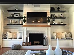 diy planked fireplace fireplace after ranch renovation marble fireplace ikea shelves