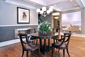 Two Tone Grey Walls Dining Room Transitional Dining Room Grey Tone Bedroom