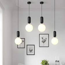 Frosted Glass Pendant Light Nordic Led Pendant Lights Frosted Glass Industrial Handin Pendant Lamp Modern Bedroom Hanglamp Living Room Suspension Luminaire