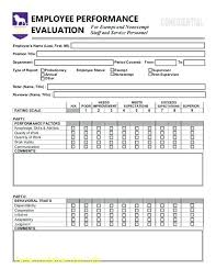 Free Employee Evaluation Forms Printable Luxury Weekly