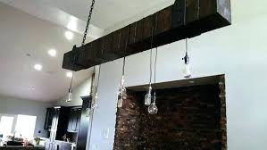 wood beam chandelier light reclaimed with vintage lights fixture west ninth wood beam chandelier