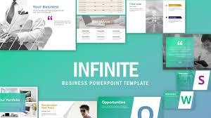 Business Portfolio Template Infinite Powerpoint Template
