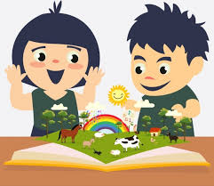 childhood education background kids open book colored cartoon free vector 1 92mb
