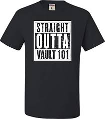 Go All Out Adult Straight Outta Vault 101 T Shirt