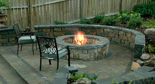 firepit outdoor kitchen with fireplace