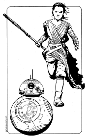 Coloring Pages Star Wars Rey Star Wars Rey Bb8 Coloring Page The
