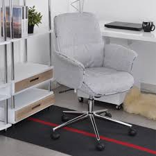 Office Chairs With Arms And Wheels Aingoo Fabric Office Chair With Arms With Fabric Pads Seat Height