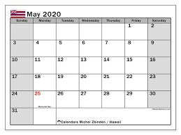 Calendar May 2020 May 2020 Calendar Hawaii Usa Michel Zbinden En