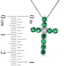 15 ct diamond cross pendant