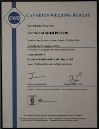 Fabricated Metal Products Inc