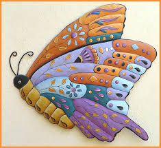 Small Picture 302 best Butterflies Hand painted metal butterfly art Wall art