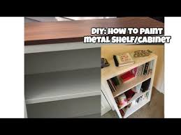 how to paint metal file cabinet shelf spray paint vs roller part 1