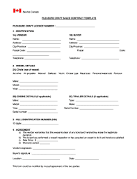 Canada Sales Contract - Fill Online, Printable, Fillable, Blank ...