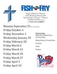 Fish Fry Flyer Microsoft Office Hope Lutheran High School Home