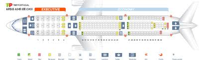 A343 Jet Seating Chart Seat Map Airbus A340 300 Tap Portugal Best Seats In The Plane