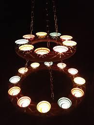 picture of tea light chandelier