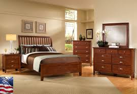 Wood Decorating Ideas for Creative Beige Themed Bedroom with Vintage Dark  Brown Wood Bed Frame that