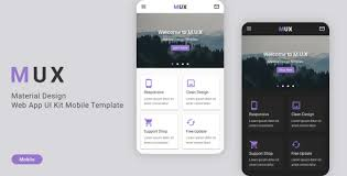 template phone mux material design web app ui kit mobile template