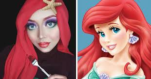 hijab disney woman uses her hijab to turn herself into disney princesses