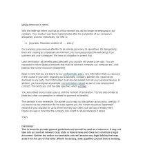 Household Employee Termination Letter Sample End Contract Employment