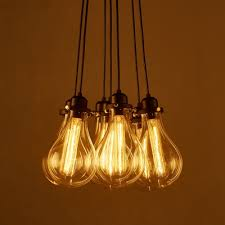 exposed bulb lighting. industrial cluster multilight pendant in exposed edison bulb style 7 lights lighting