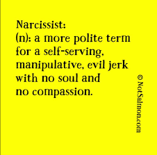 Narcissism Is A More Polite Term For Jerk Notsalmon