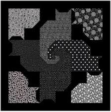 FOUR BLACK CATS AND FRIENDS QUILT pattern Try black, navy,green ... & FOUR BLACK CATS AND FRIENDS QUILT pattern Try black, navy,green, multi, Adamdwight.com