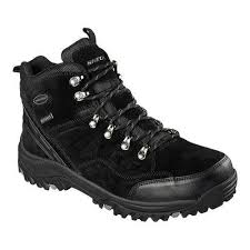 sketchers hiking boots. men\u0026#x27;s skechers relaxed fit relment pelmo hiking boot black sketchers boots