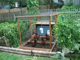 Small Picture Chicken coop in the garden I like this idea for easy clean up of