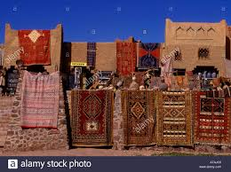 Hanging Rugs Moroccan Rugs Carpets Hanging On Wall At Souvenir Store Near