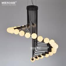 modern loft industrial chandelier lights bar stair dining room lighting retro meerosee chandeliers lamps fixtures res