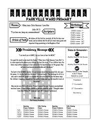 Music Newsletter Templates Primary Newsletter Template Church Pinterest Lds Primary