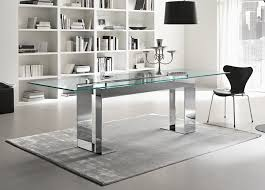 tonelli miles glass chrome dining table