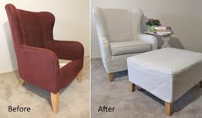 gray wingback chair. Gray Wingback Chair Slipcover Transformation
