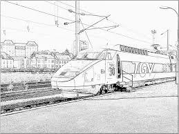 Coloriage Train Tgvl