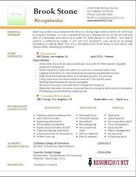 Receptionist Resume Cover Letter Best Ideas Of Vet Receptionist ...
