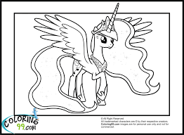 My Little Pony Princess Luna Coloring Pages Getcoloringpagescom
